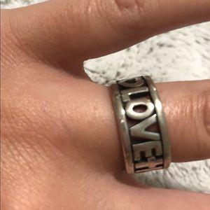 James Avery Love Hope and Faith Ring